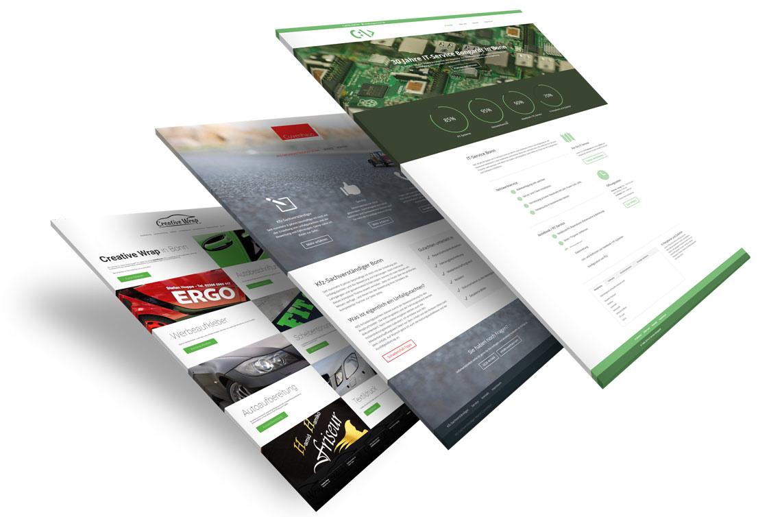 Beispiele mit Internetseiten unserer Internetagentur